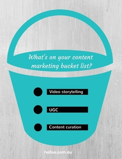 Content marketing bucklet list